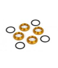 Ecrous ressorts amortisseurs - Orange x4 - XRAY - 308040-O