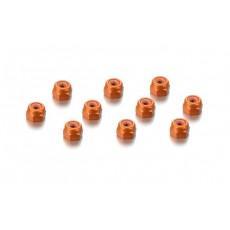 Ecrous alu 3mm Orange (10) - HUDY - 296530-O