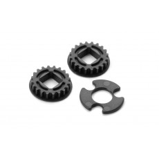 FIXED PULLEY FOR LAYSHAFT WITH BEARINGS 20T (2) - 305578 - XRAY