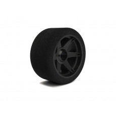 Pair of front tyres 1/8 69mm Shore 32 on carbon rims. - HOT RACE