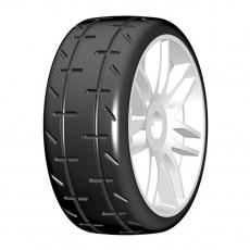 1:8 GT T01 REVO S1 XXSoft - Mounted white wheels (2) - GRP - GTJ01-S1