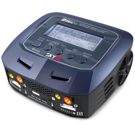 SkyRC D100 AC/DC DUO LiPo 1-6s 2x100W - V2 - SKY RC - SK-100131