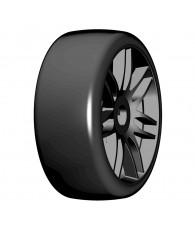 1:8 GT T02 SLICK S3 Soft - Mounted black wheels (2) - GRP - GTX02-S3
