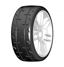 1:8 GT T01 REVO S5 Medium - Mounted white wheels (2) - GRP - GTJ01-S5